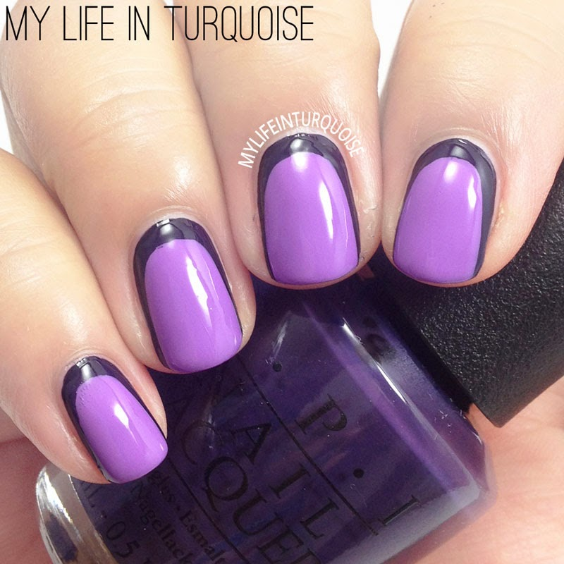My life in turquoise 31dc2014 day 06 violet nails ruffian ruffian nail art prinsesfo Images