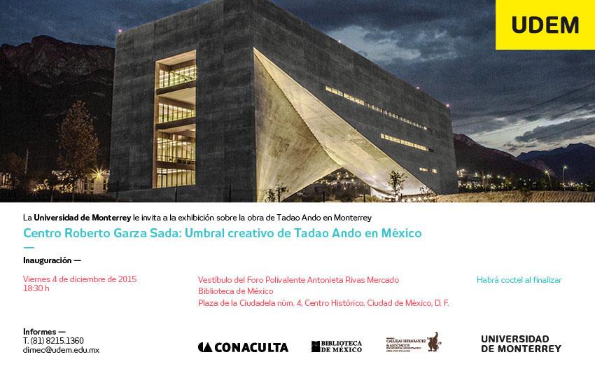 ExaUDEM: CRGS: Umbral creativo de Tadao Ando en México