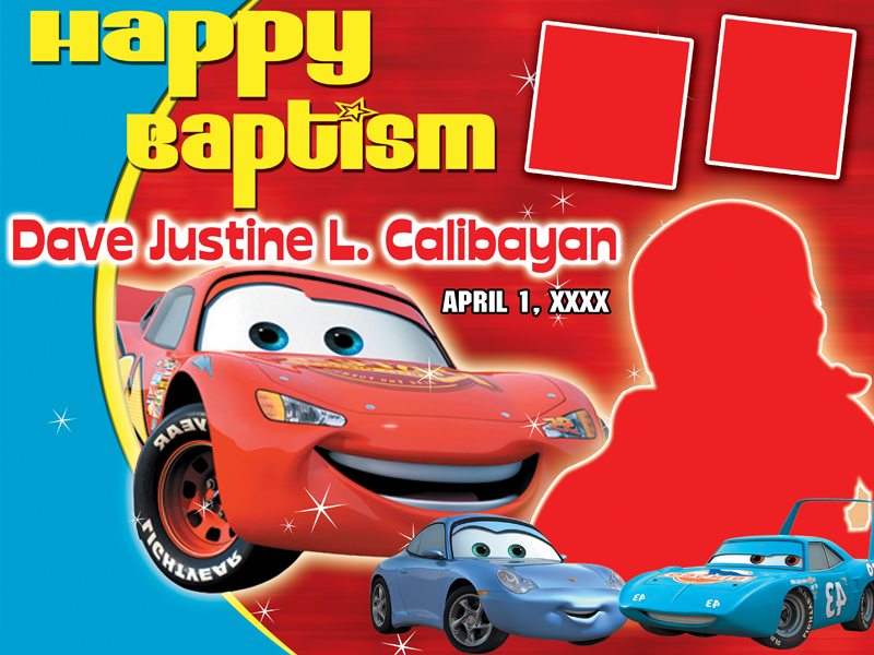 The Cars Birthday Layout | CustomizePrintShop