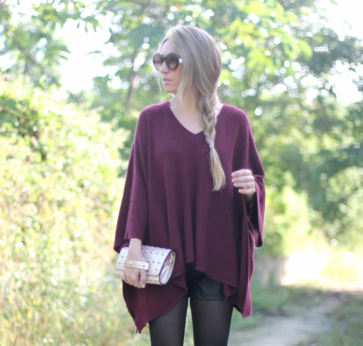 Bloguera de moda color oxblood burdeos