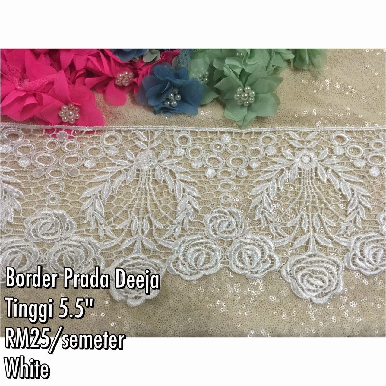 Hiris fuschia border lace terbaru for Border lace glam