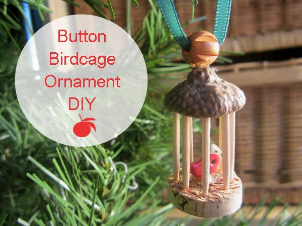 Buttonmad birdcage button ornament tutorial Wine cork birdhouse instructions