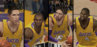 NBA 2K13 Lakers Cyber Face Pack Mod