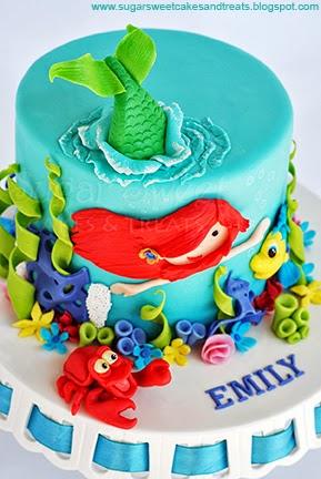 Little Mermaid Flounder Cake
