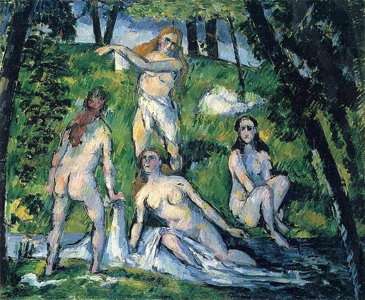 Paul Cézanne - Quatre baigneuses,1877-78.