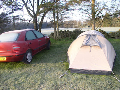 My first camping trip at the end of April 2005 resulted in a particularly cold and frosty night in Alston