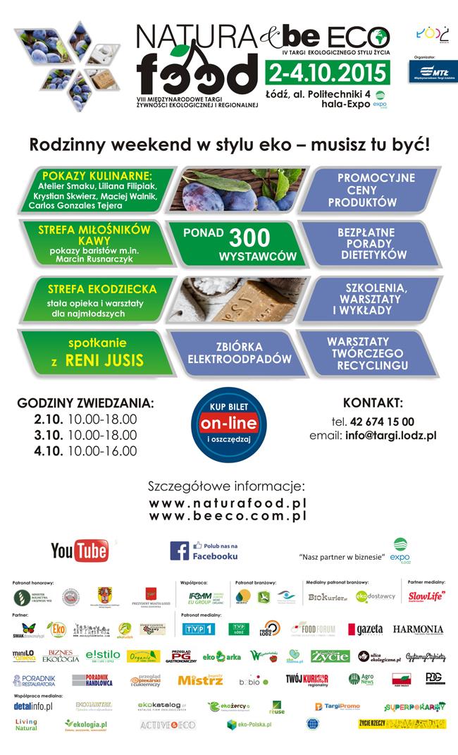 Zaproszenie na VIII Międzynarodowe Targi Natura Food