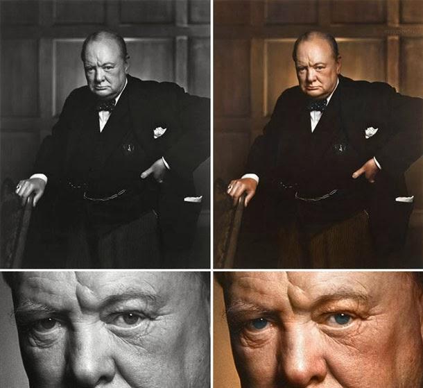 Winston Churchill - manipulação digital - Sanna Dullaway