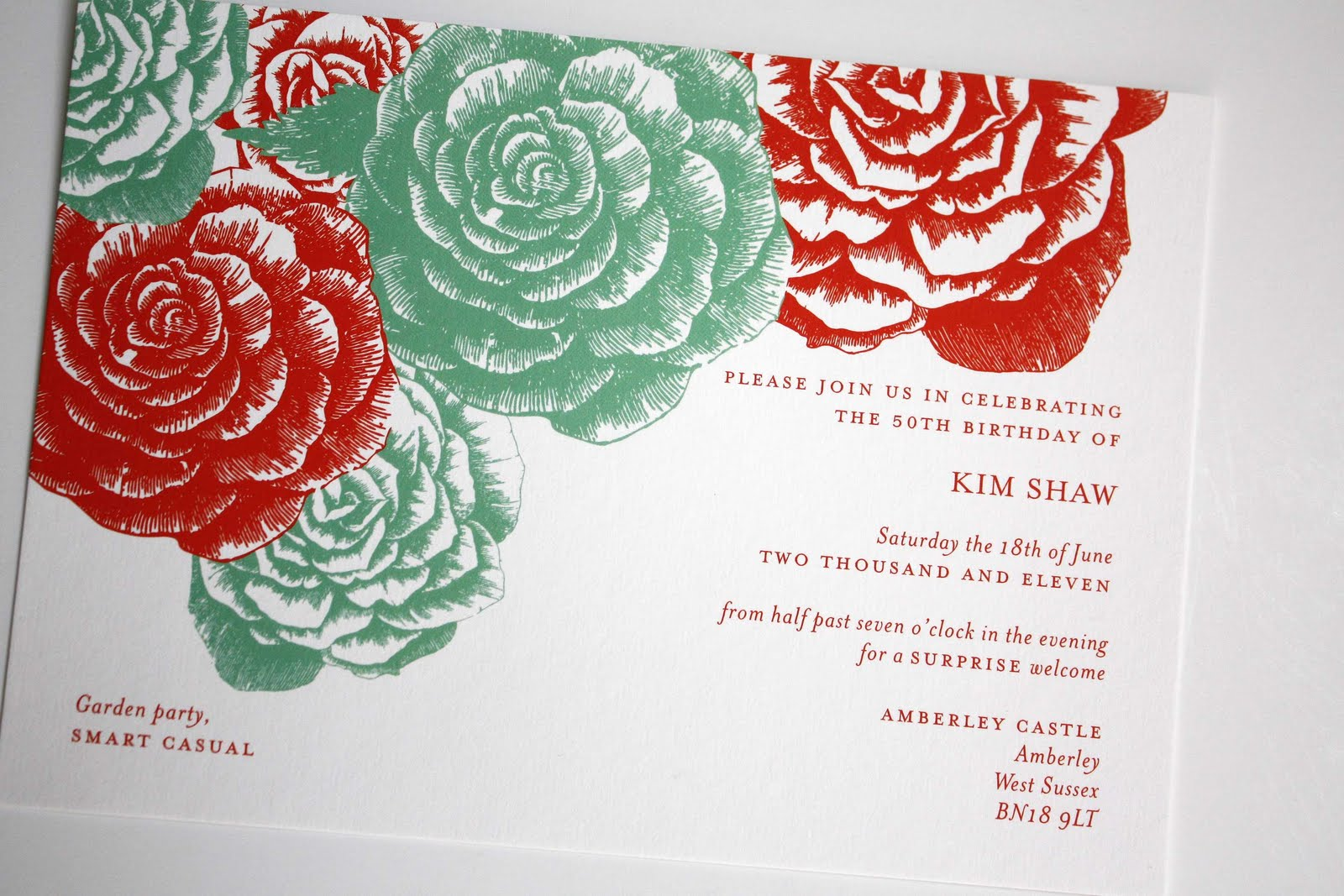 Romeo and Jules Bespoke Stationery: La vie en rose