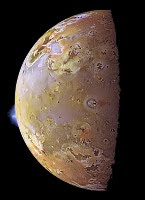 Io's geologically-active surface