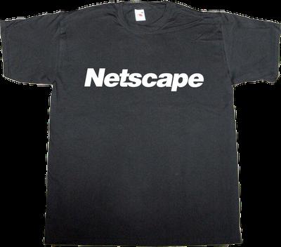 netscape microsoft t-shirt ephemeral-t-shirts