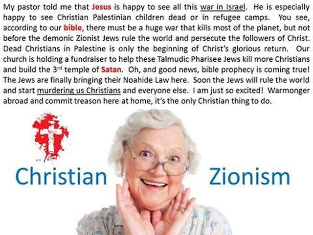 Myndaniðurstaða fyrir herasy christian zionist for war