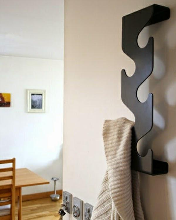 hall coat hooks wall mounted made of wood