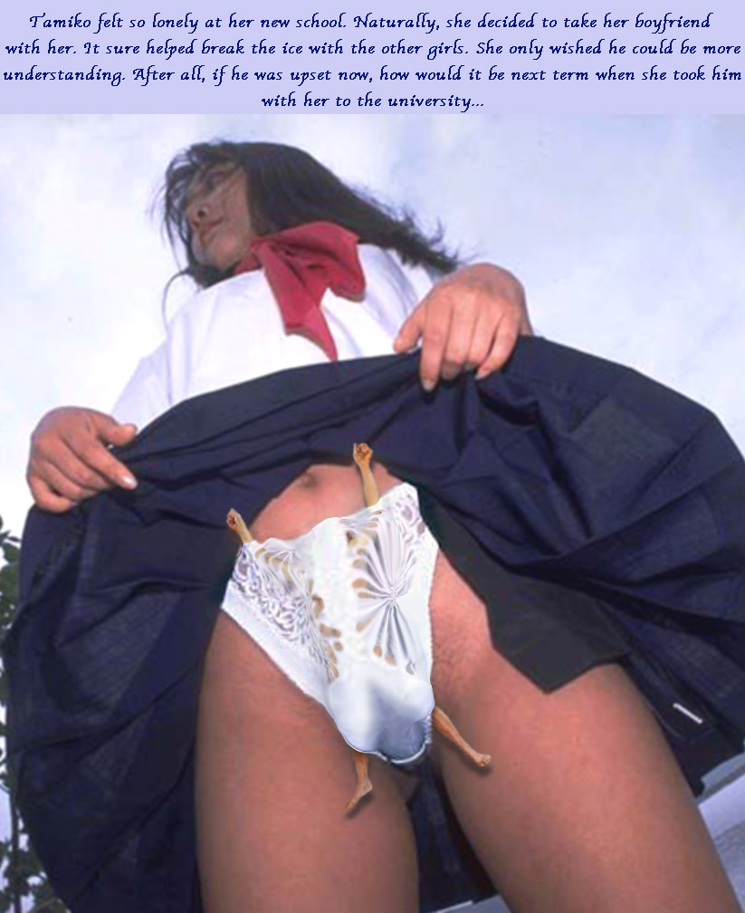 Inside giantess panties