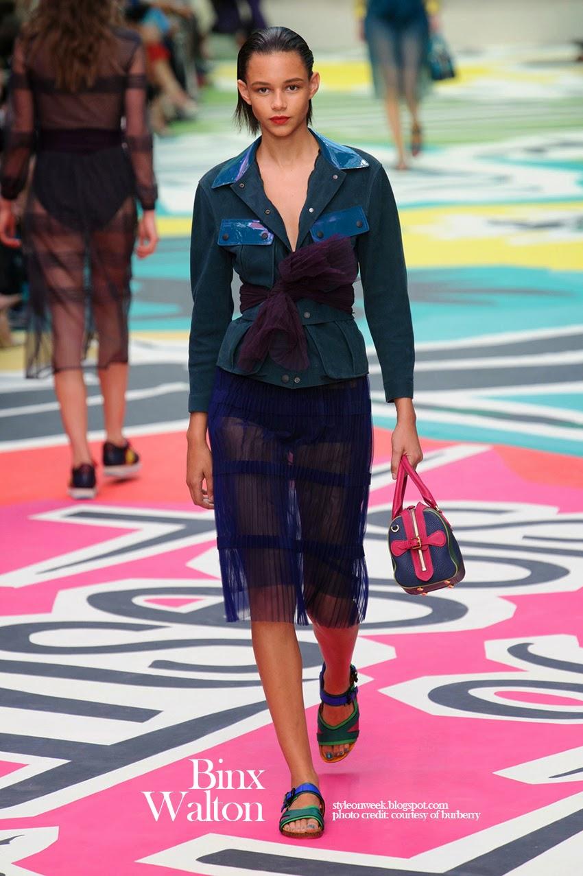 Binx Walton at Burberry Prorsum Womenswear Spring-Summer 2015 Collection Look