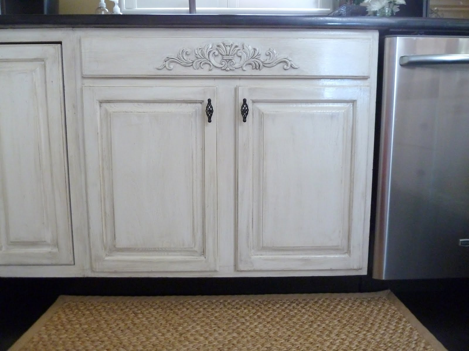 Our fifth house distressed kitchen cabinets how to Diy white cabinets