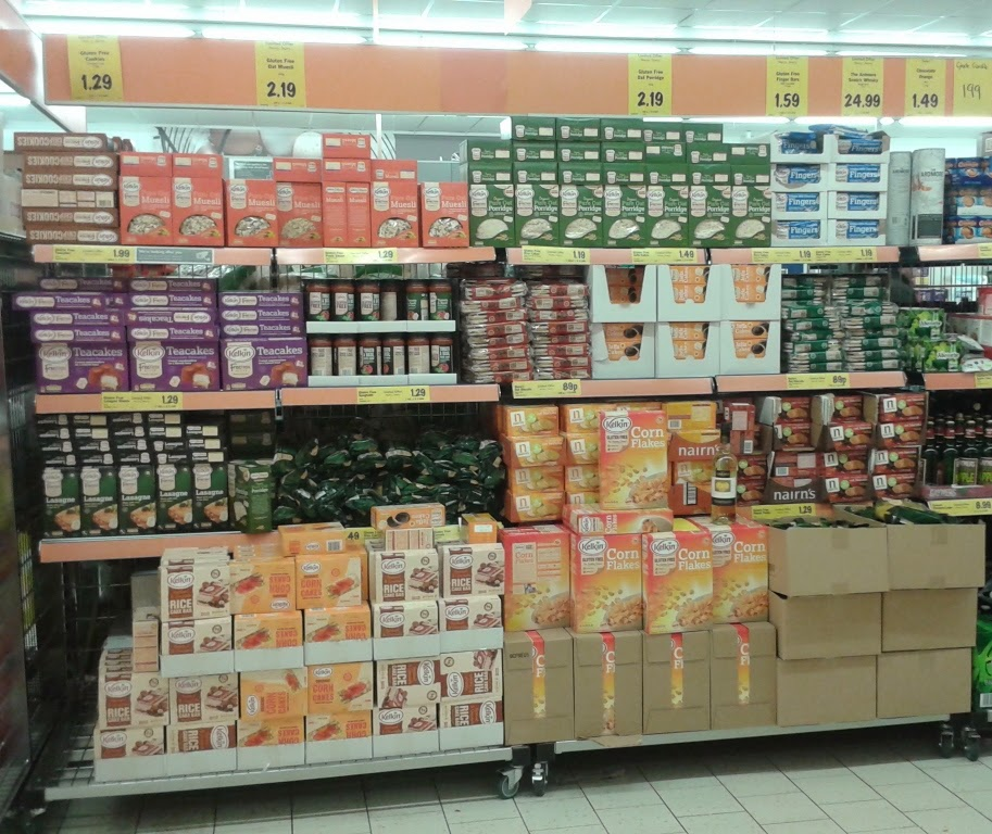 A great range of Kelkin gluten free products in the Leagrave branch of Lidl