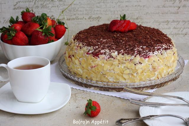 przepis na tort stracciatella