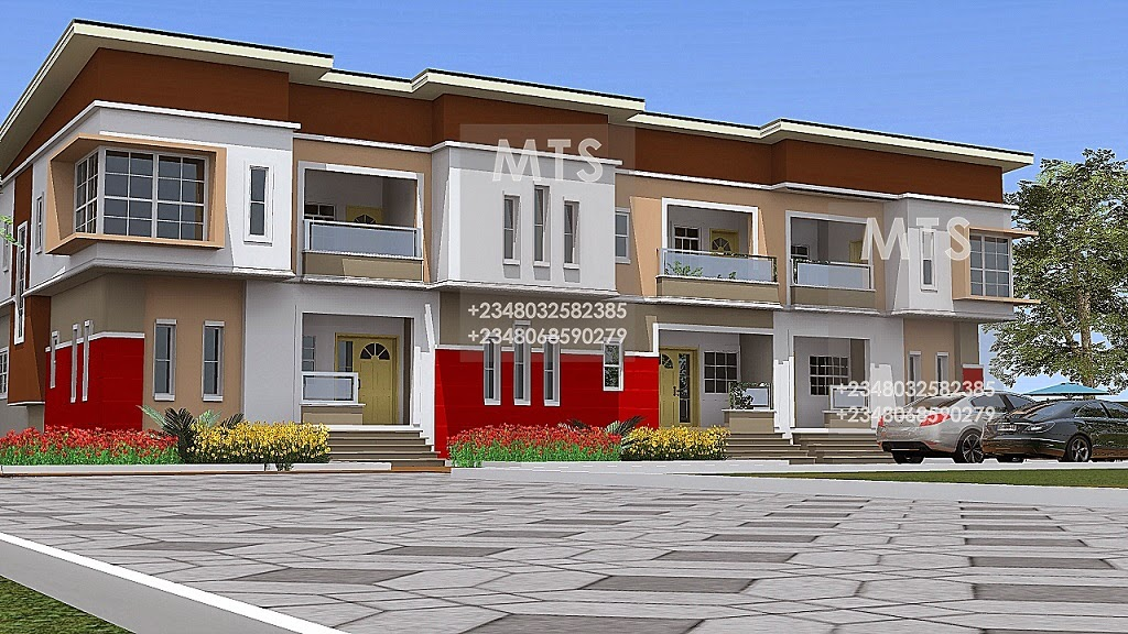 3 units of 4 bedroom terrace duplex residential homes for Duplex bungalow design