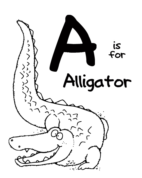 alligator clip art coloring pages dudeindisneycom