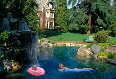 Playboy Mansion Grotto Where RoseWrites Interviews Moina-Arcee (added with Pixlr)