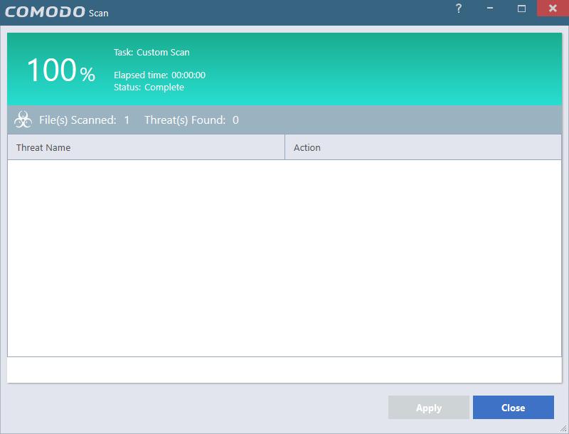 comodo sandbox how to run application already in sandbox