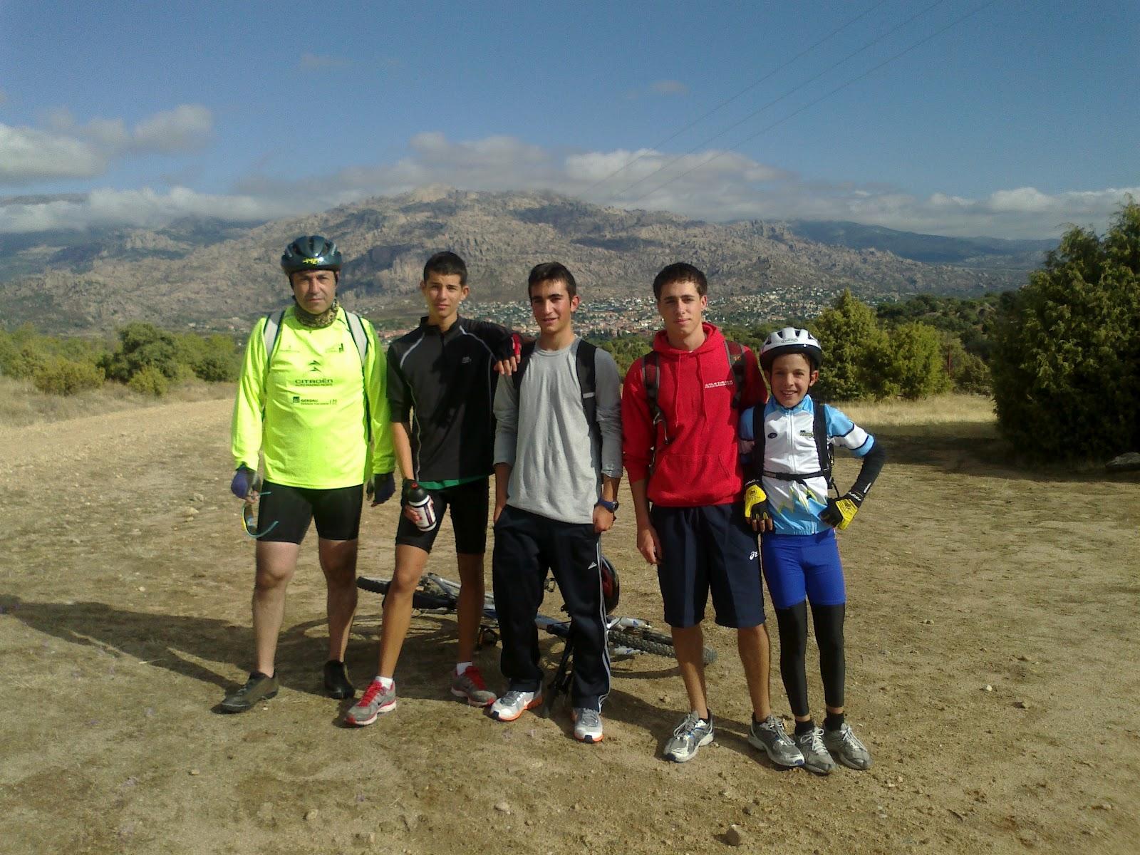 El sitio de montse la primera salida en bici - Polideportivo manzanares el real ...