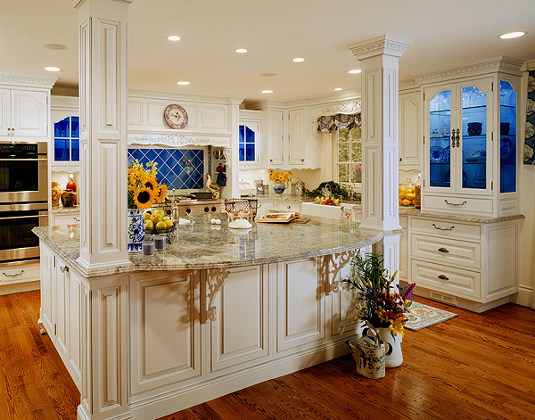 Celebrate and decorate sunday style country french kitchens for French blue kitchen ideas
