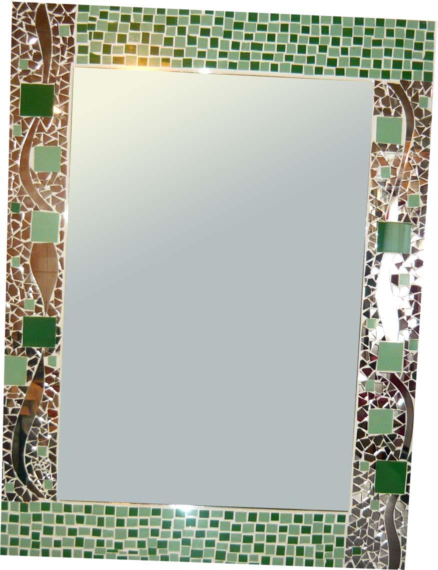 Espejarte espejos mosaiquismo verde for Espejos precios