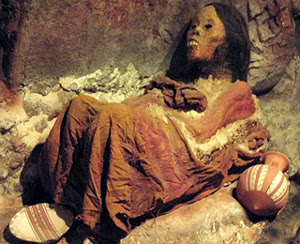 Mummy Juanita preserved in a museum