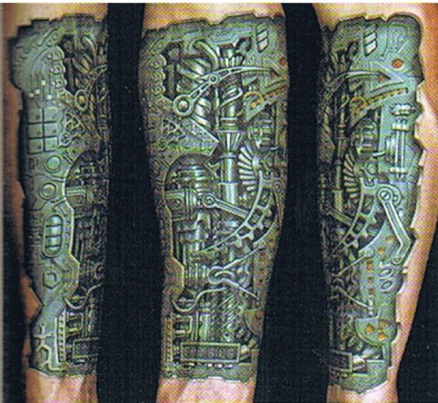 Biomechanical Tattoo Idea