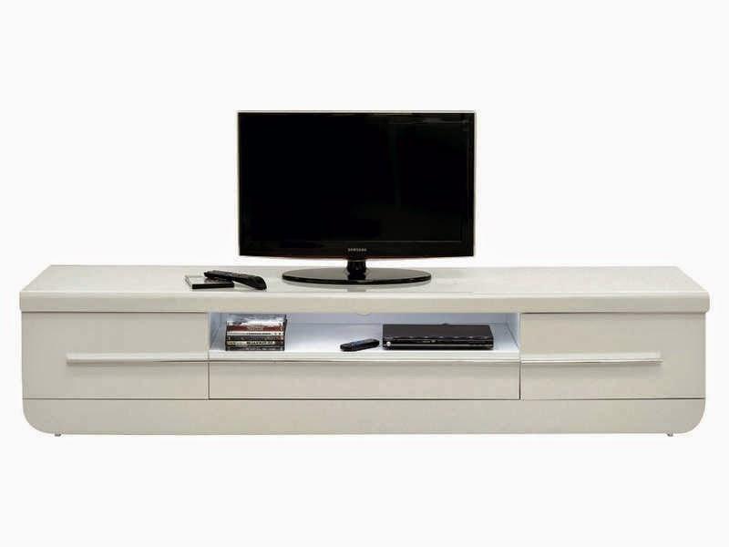 meuble tv laque blanc et noir conforama
