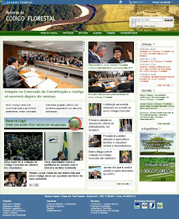 site do Senado sobre o Código Florestal