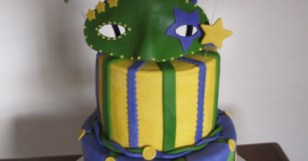 Ms. Cakes: Mardi Gras Mask Cake