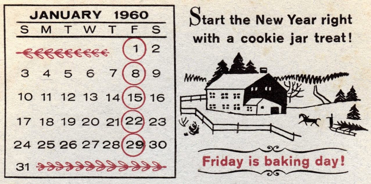 Dutch Kitchen Calendar 1960