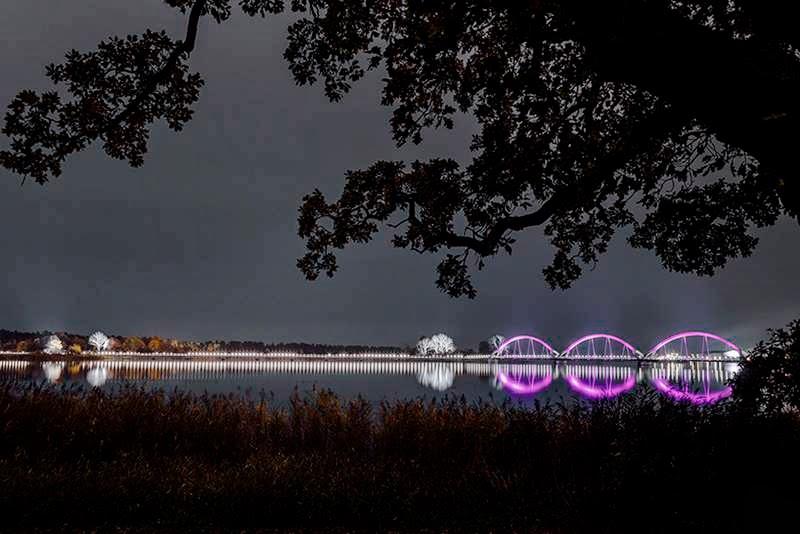 Glowing Sweden's Sölvesborg Bridge