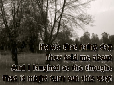 Here's That Rainy Day - Barbra Streisand Song Lyric Quote in Text Image