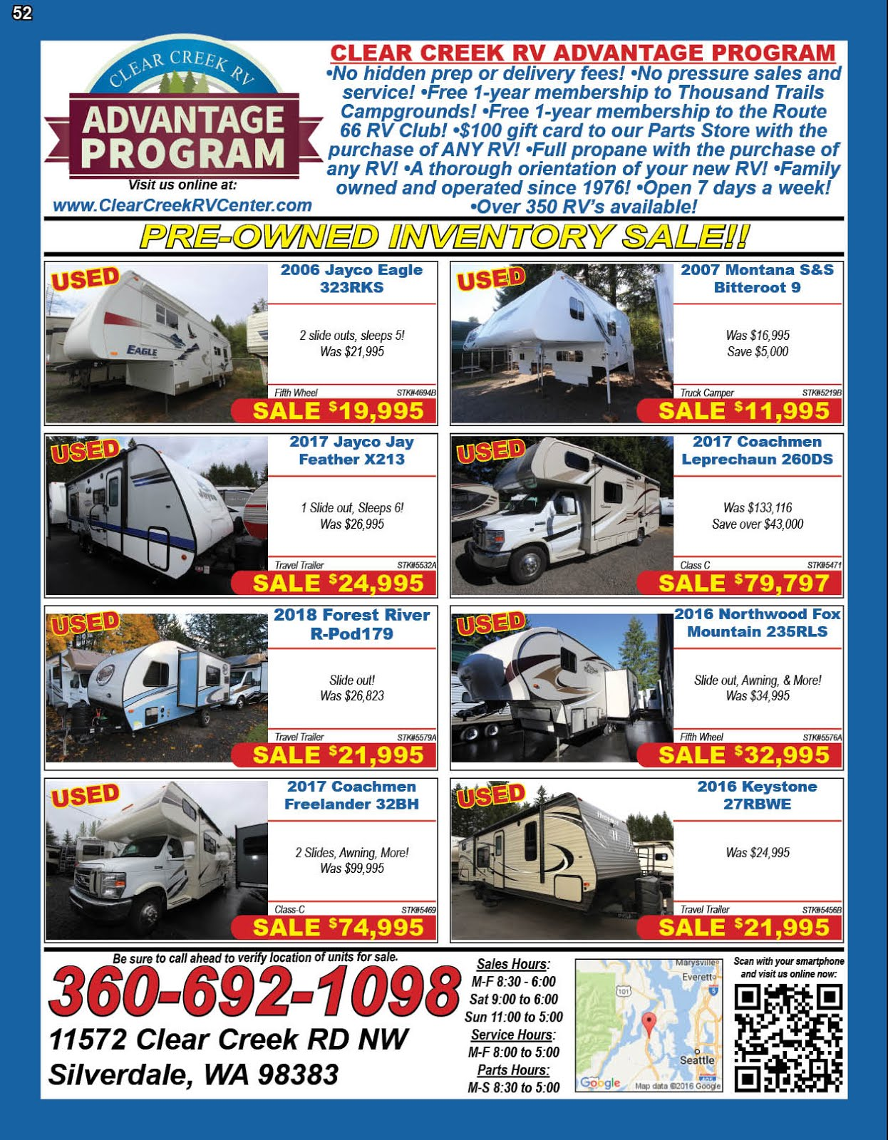Clear Creek RV Center Now Carrying OPUS Trailers!!
