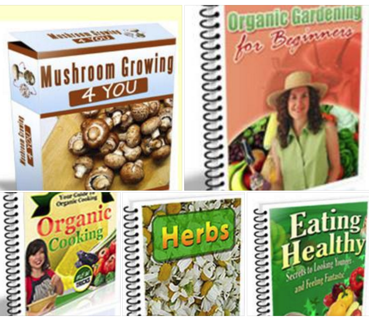 MAKE HOME GROWN ORGANIC MUSHROOMS +7 BONUS BOOKS
