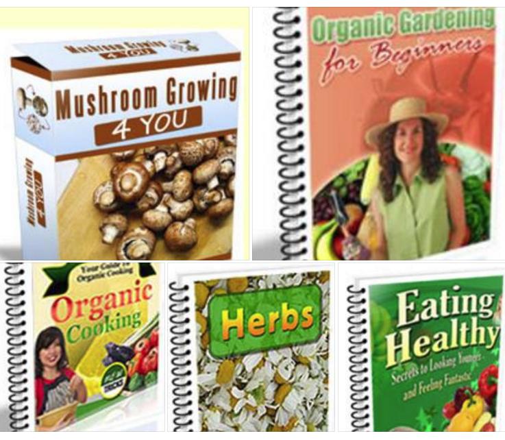 MAKE HOME GROWN ORGANIC MUSHROOMS +7 BONUS BOOKS