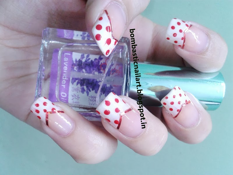 Day 1: Red French Manicure Nails – Bombastic Nail Art