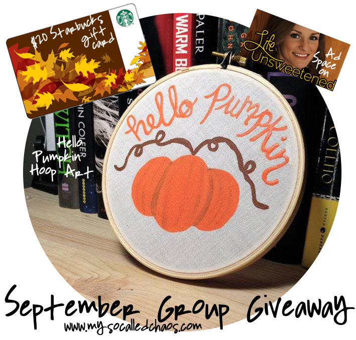 Farewell to September: Group Giveaway