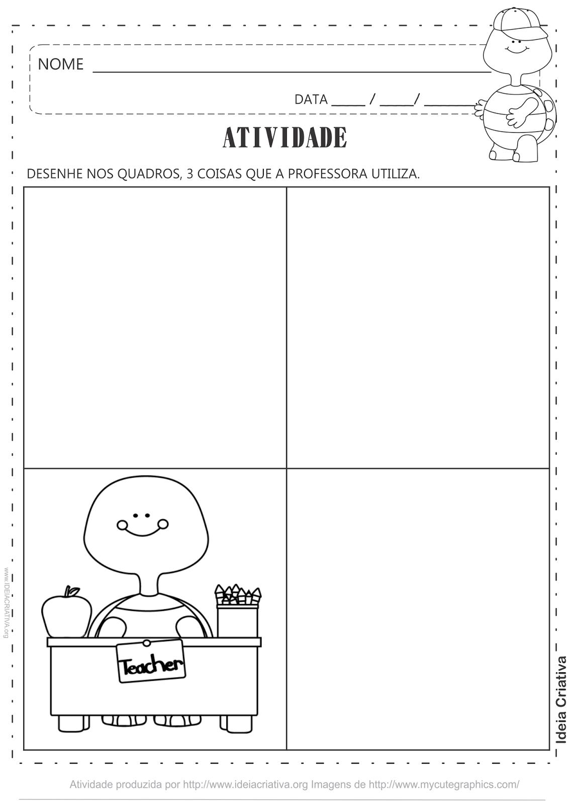 Atividade Dia Professor Desenho Livre