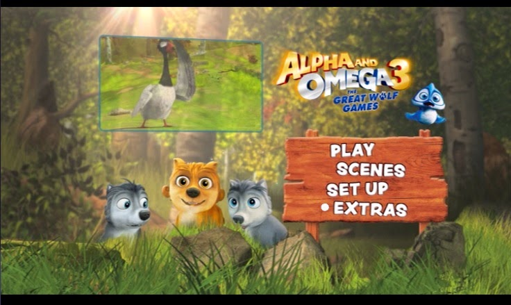 Alpha and Omega 3 The Great Wolf Games DVD, Easter Movies, children animations