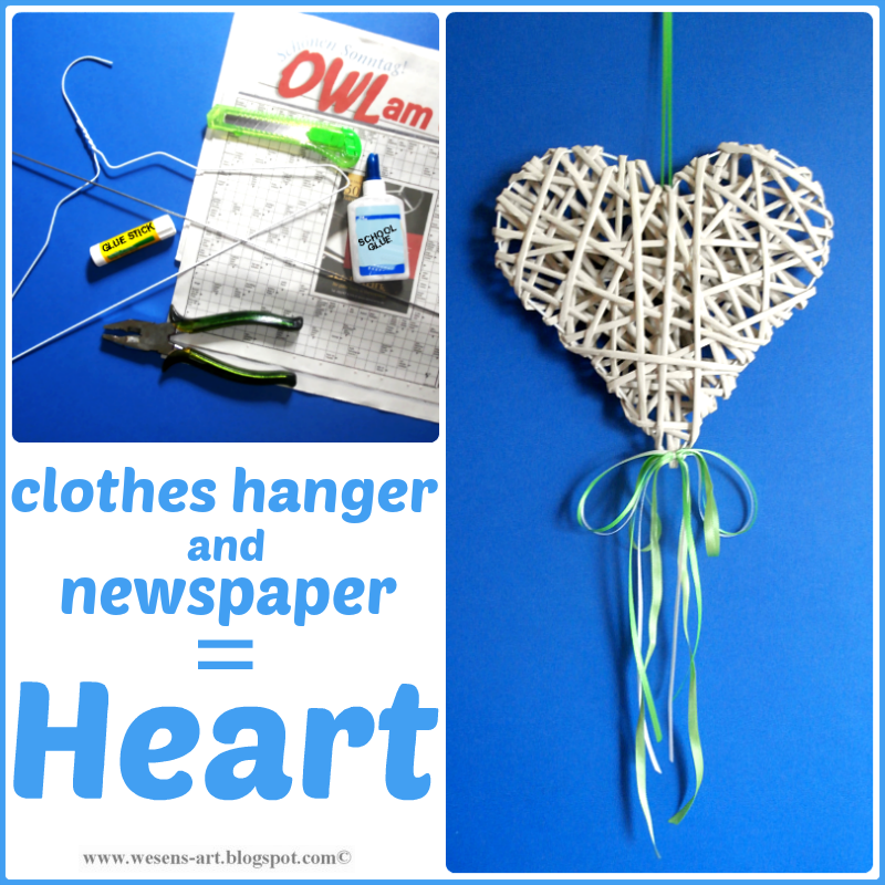 Newspaper Heart  wesens-art.blogspot.com