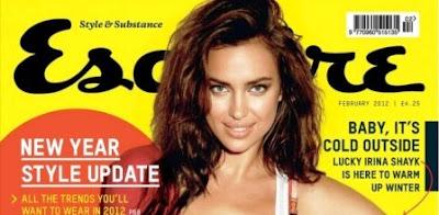 Irina Shayk: Esquire Febrero de 2012.