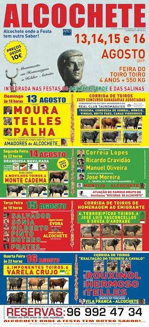 ALCOCHETE (PORTUGAL) DIAS 13 - 14 - 15 - 16 DE AGOSTO 2017. FERIA DO TOIRO - TOIRO.