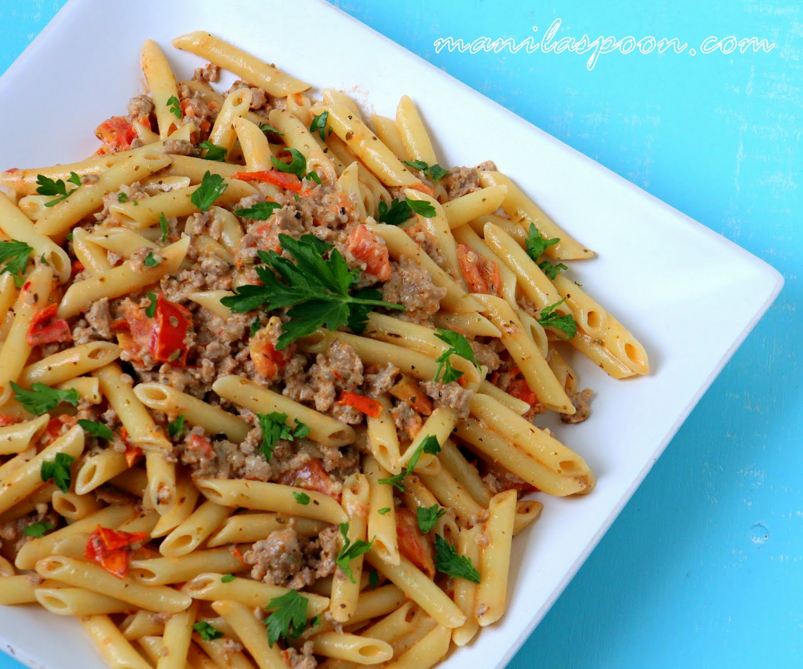 We make this Pasta with Italian sausage and creamy tomato sauce all ...