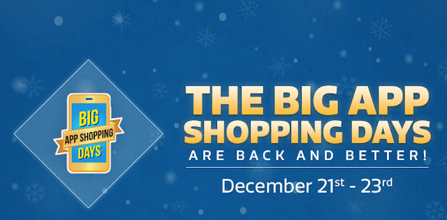 Flipkart Big App Shopping Days from 21st December to 23rd December 2015