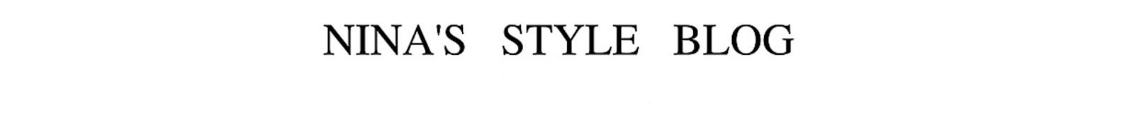 Nina's Style Blog